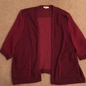 Silence + Noise Red Cardigan Sweater